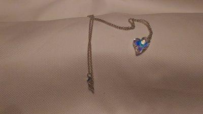 Catenina in argento 925 con pendente swarovski a forma di cuore