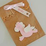 Kit Bomboniera Battesimo sacchetto carta kraft tema cavallo alato