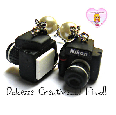 Orecchini Macchina Fotografica  - idea regalo fotografa (SU COMMISSIONE)