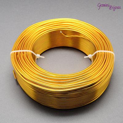 Lotto 1 metro Filo di alluminio 2 mm. giallo oro