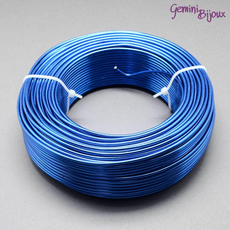 Lotto 1 metro Filo di alluminio 2 mm. blu