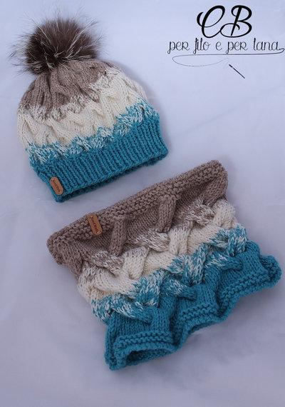 Berretto e scaldacollo in lana