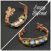 Bracciale COPPER con Perle di Giada colorata