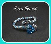BLU SNAKE: Bracciale a Serpente In Alluminio Argento e Azzurro