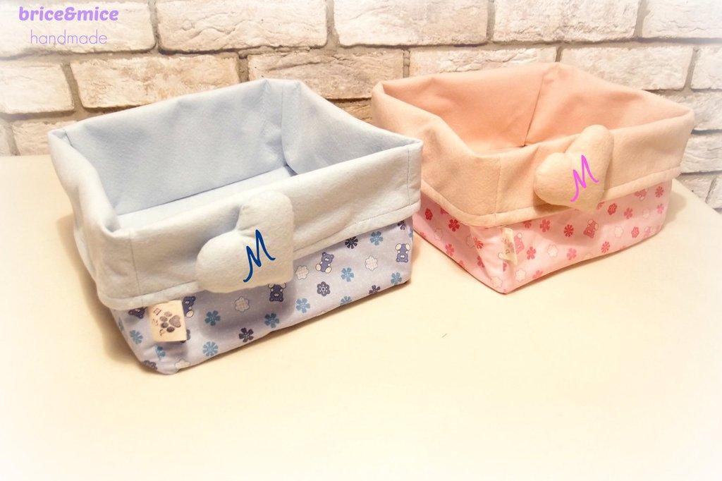 Cestino porta oggetti Cuore in feltro personalizzabile, Basket contenitore porta oggetti, contenitore per il bagnetto, contenitore  in  feltro