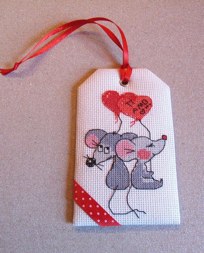 """Etichetta per regalo di San Valentino """"Ti amo..."""""""