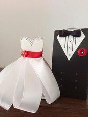 Abito Sposo e sposa porta confetti