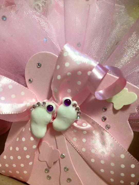 Portaconfetti con gessetti in miniatura