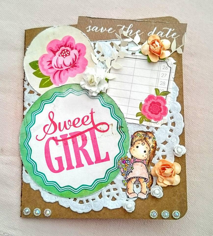 Biglietto Card Sweet Girl