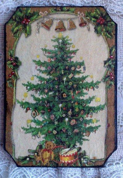 Targhetta in legno, Albero di Natale