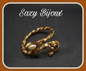 BRONZ SNAKE: Bracciale a Serpente In Alluminio color bronzo