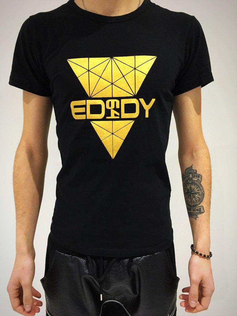 T-Shirt Eddy64 geometric Gold