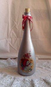 Bottiglia in vetro Pupazzo di Neve