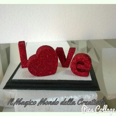 TI AMO E I LOVE YOU IN POLISTIROLO  PER SAN VALENTINO