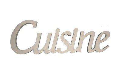 Scritta in legno Cuisine