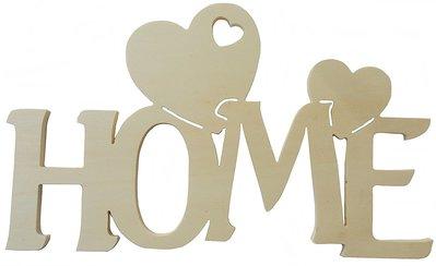 Scritta in legno home con cuori cm l 30x 18 h spessore 8 for Scritta home in legno