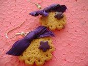 orecchini biscotti+fiocco