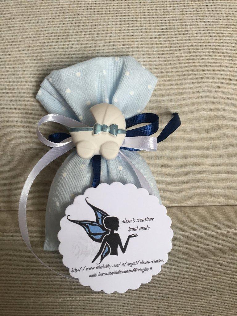 Sacchetti porta confetti bomboniere con gessetto