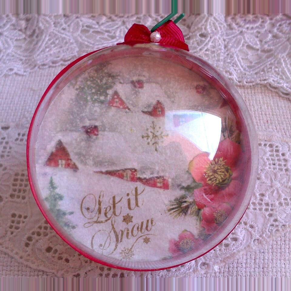 Palline di Natale decorate