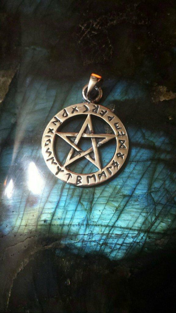 Ciondolo argento rune