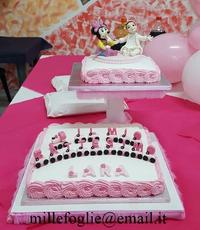 Decorazione per torta adatta a battesimo compleanno ecc for Decorazione torte millefoglie