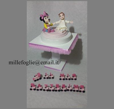 Decorazione per torta adatta a Battesimo,Compleanno,ecc…