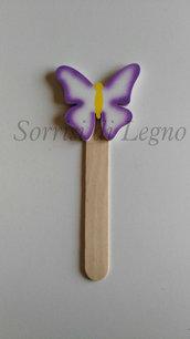 Segnalibro in legno con farfalla idea per bomboniera o segnaposto