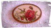 Magnete con Rosa Rossa
