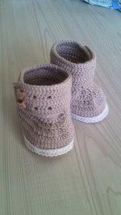 scarpe bimba lana maglia