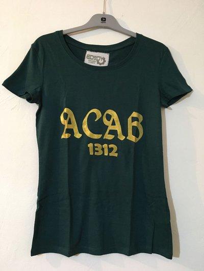 T-shirt modello ACAB (verde)