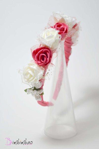 cerchietto cerimonia cerchiello corona coroncina comunione battesimo cresima occasione elegante damigella matrimonio capelli.