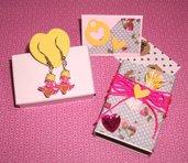 Idea Regalo - Kit Regalo Completo! - Orecchini MiniBox e MiniBigliettino - Tender^^