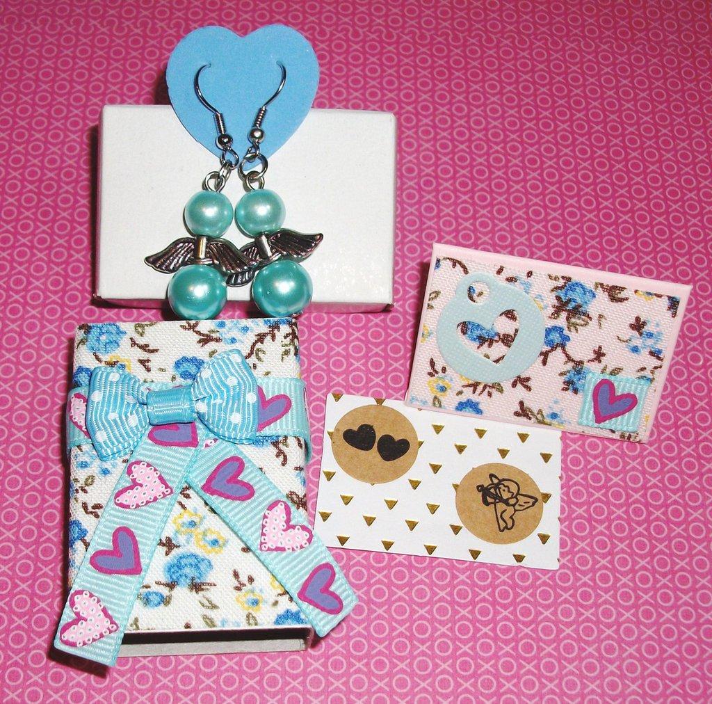 Idea Regalo - Kit Regalo Completo! - Orecchini MiniBox e MiniBigliettino - Sweet^^