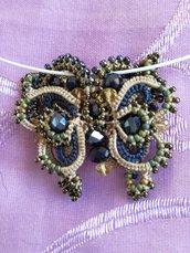 Ciondolo farfalla blu
