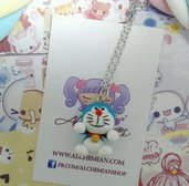 Collana in FIMO Doreamon inspired,gatto robot,spaziale,kawaii style