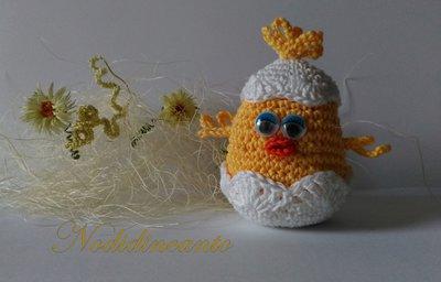 Pulcino amigurumi giallo, tenero e simpatico, fatto a mano idea regalo Pasqua