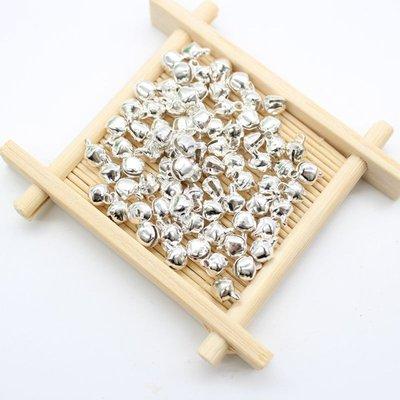 LOTTO 50 campanellini color argento (8x6mm) (cod.new)