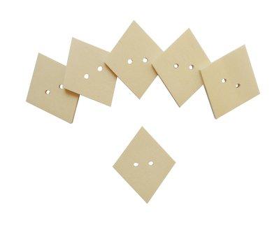 Bottoni il legno a forma di rombo per il fai da te 6 PZ