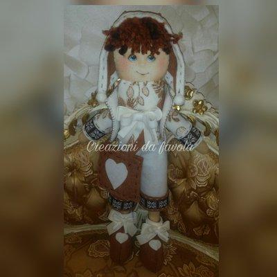 Bambola in feltro maschio country