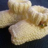 scarpine da neonato lavorate ai ferri