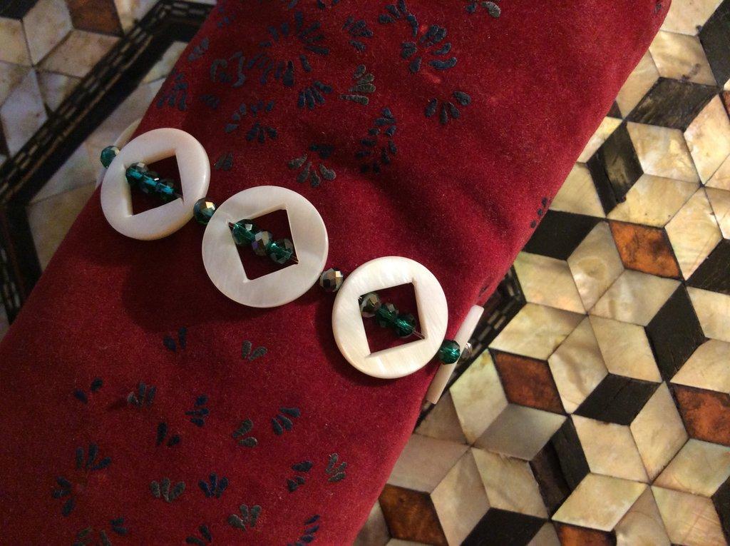 Braccialetto con micro sfere vetro