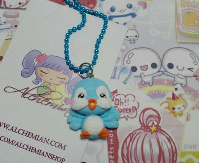 Collana in FIMO uccellino,passerotto, love peluche,cucciolo,kawaii style lolita