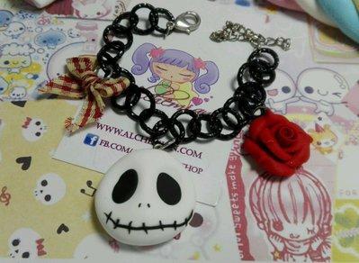 Bracciale Jack Skeleton love,rosa rossa,Offerta San Valentino,kawaii style