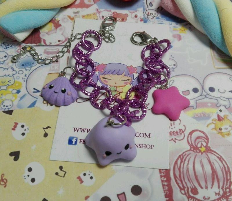 Bracciale Medusa conchiglia stella marina,love mare,kawaii style lolita