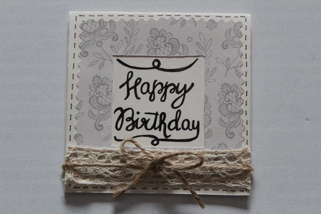 Biglietto auguri - Happy Birthday