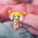 OOAK Ichigo dollina doll bambolina bambola kawaii semovibile