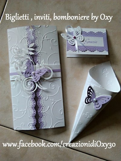 Matrimonio In Lilla : Coni riso matrimonio elegante farfalla lilla feste