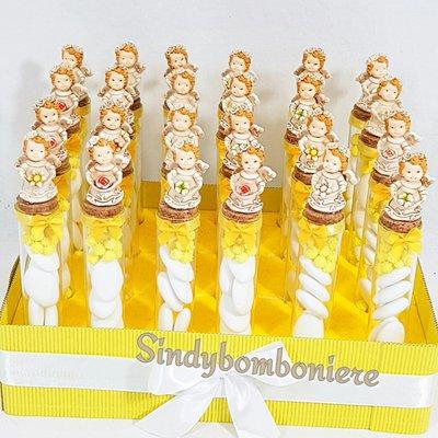 Bomboniere angioletti angeli Fede originali bomboniere scatolina portaconfetti vetro