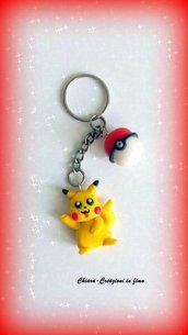 Portachiavi in fimo handmade Pokemon kawaii Pokemon Go miniature idee regalo regalo Natale regalo epifania calza befana