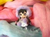 OOAK Kuroha dollina doll bambolina bambola kawaii semovibile